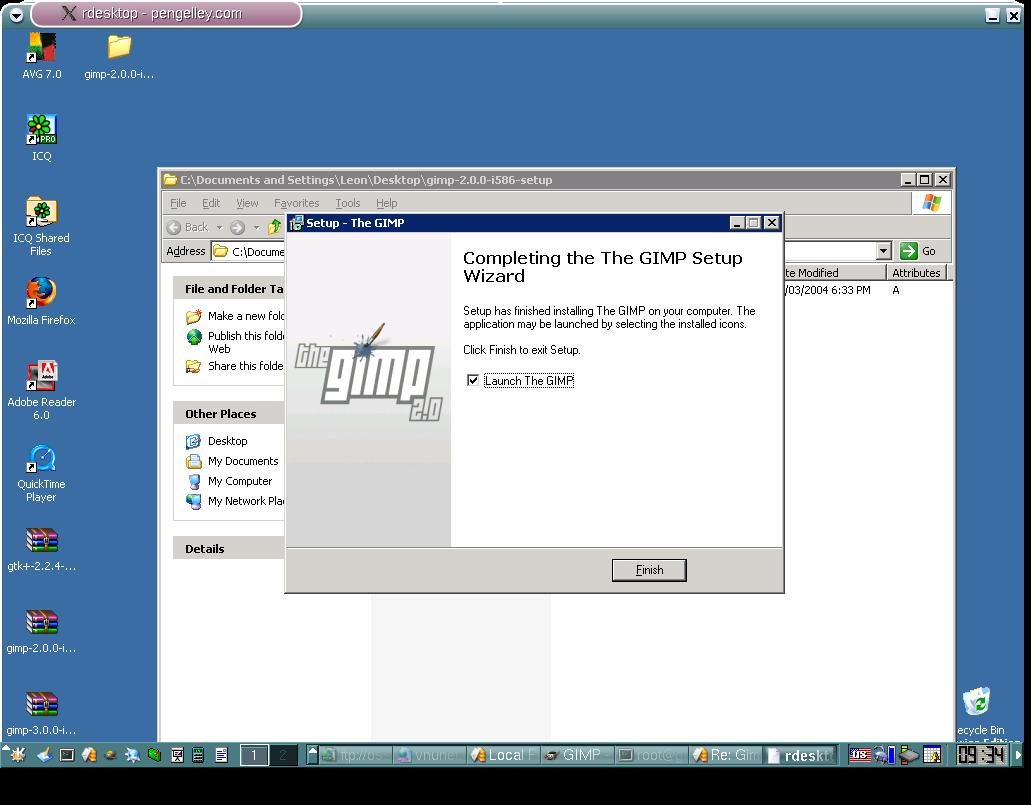 how to run gimp 2